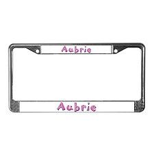 Aubrie Pink Giraffe License Plate Frame