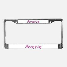 Averie Pink Giraffe License Plate Frame