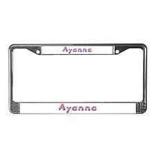 Ayanna Pink Giraffe License Plate Frame