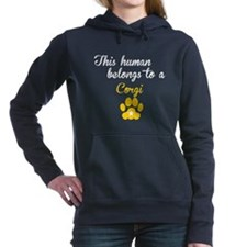 This Human Belongs To A Corgi Hooded Sweatshirt