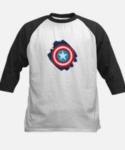 Captain America Distressed Sh Kids Baseball Jersey