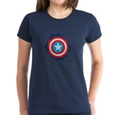 Captain America Distressed Sh Tee
