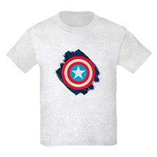 Captain America Distressed Shie T-Shirt
