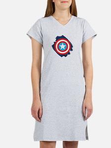 Captain America Distressed Shie Women's Nightshirt