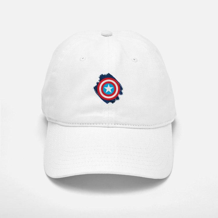 Baseball Baseball Captain America Distressed Shield Baseball Baseball Cap