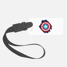 Captain America Distressed Shiel Luggage Tag