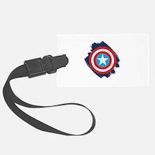 Captain America Distressed Shiel Luggage Tag