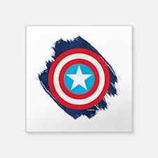 """Captain America Distressed Square Sticker 3"""" x 3"""""""