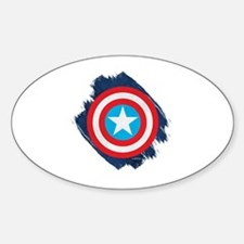 Captain America Distressed Shield Decal