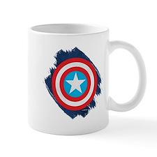 Captain America Distressed Shield Mug
