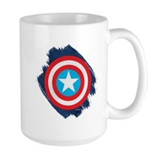 Captain America Distressed Shield Mug