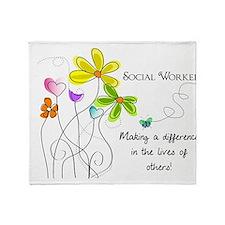 social worker Throw Blanket