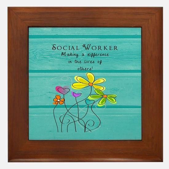 social worker Framed Tile