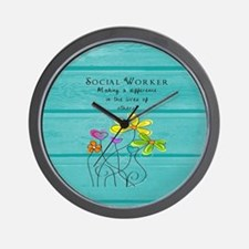 social worker Wall Clock