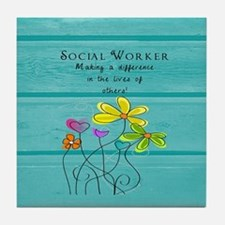 social worker Tile Coaster