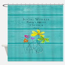 social worker Shower Curtain