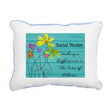 social worker Rectangular Canvas Pillow
