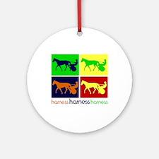Pop Art Harness Ornament (Round)
