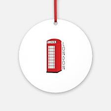 Telephone London Ornament (Round)