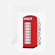 Telephone London Greeting Cards