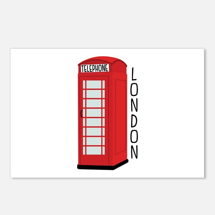 Telephone London Postcards (Package of 8)