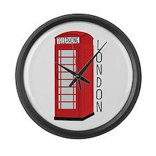 Telephone London Large Wall Clock