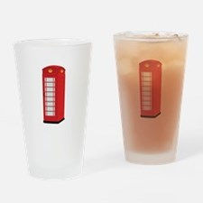 Red Telephone Box Drinking Glass