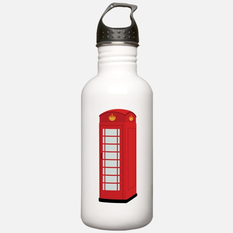 Red Telephone Box Water Bottle