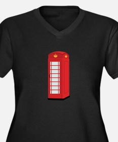 Red Telephone Box Plus Size T-Shirt