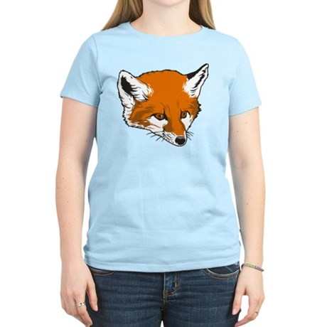Cute Fox Head Women's Light T-Shirt