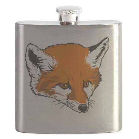 Cute Fox Head Flask