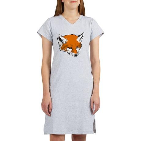 Cute Fox Head Women's Nightshirt