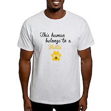 This Human Belongs To A Westie T-Shirt