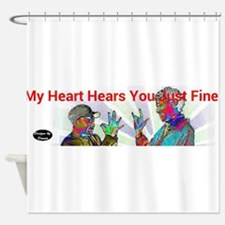 Deaf Hearts Hear Fine Shower Curtain