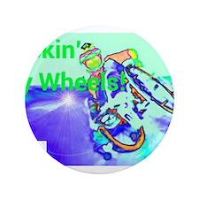 """Rockin Wheels 3.5"""" Button"""
