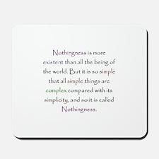 Kabbalah Ayin Nothingness Quote Mousepad