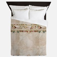 French Market Label Birds on a Wire Fr Queen Duvet