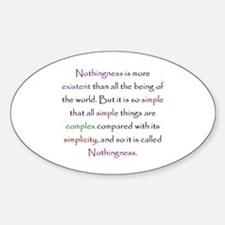 Kabbalah Ayin Nothingness Quote Oval Decal