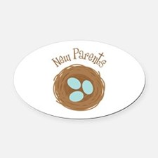 New Parents Oval Car Magnet
