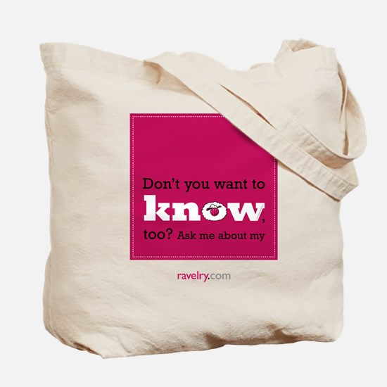 Ravelry 4 Million This 2-Sided Tote Bag