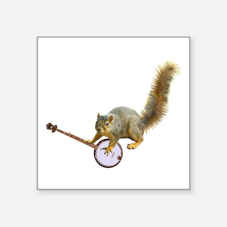 Squirrel with Banjo Sticker