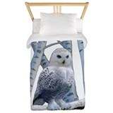 Snowy owl Luxe Twin Duvet Cover