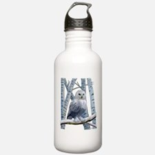 BLUE-EYED SNOW OWL Water Bottle