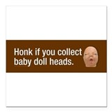 Baby head Square Car Magnets