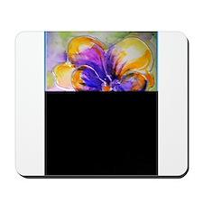 Colorful pansy, floral art Mousepad