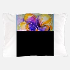 Colorful pansy, floral art Pillow Case