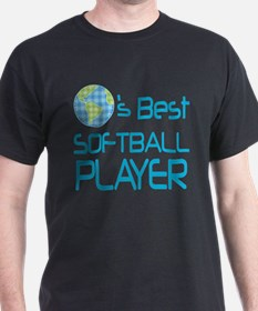 Earths Best Softball Player T-Shirt