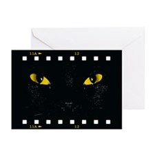 Black Cat Stare Greeting Cards (Pk of 10)
