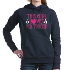 This Girl Loves Her Trucker Hooded Sweatshirt