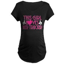 This Girl Loves Her Trucker T-Shirt